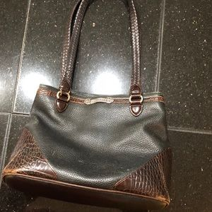 Vintage Brighton Lesbeth Pebble Leather Tote